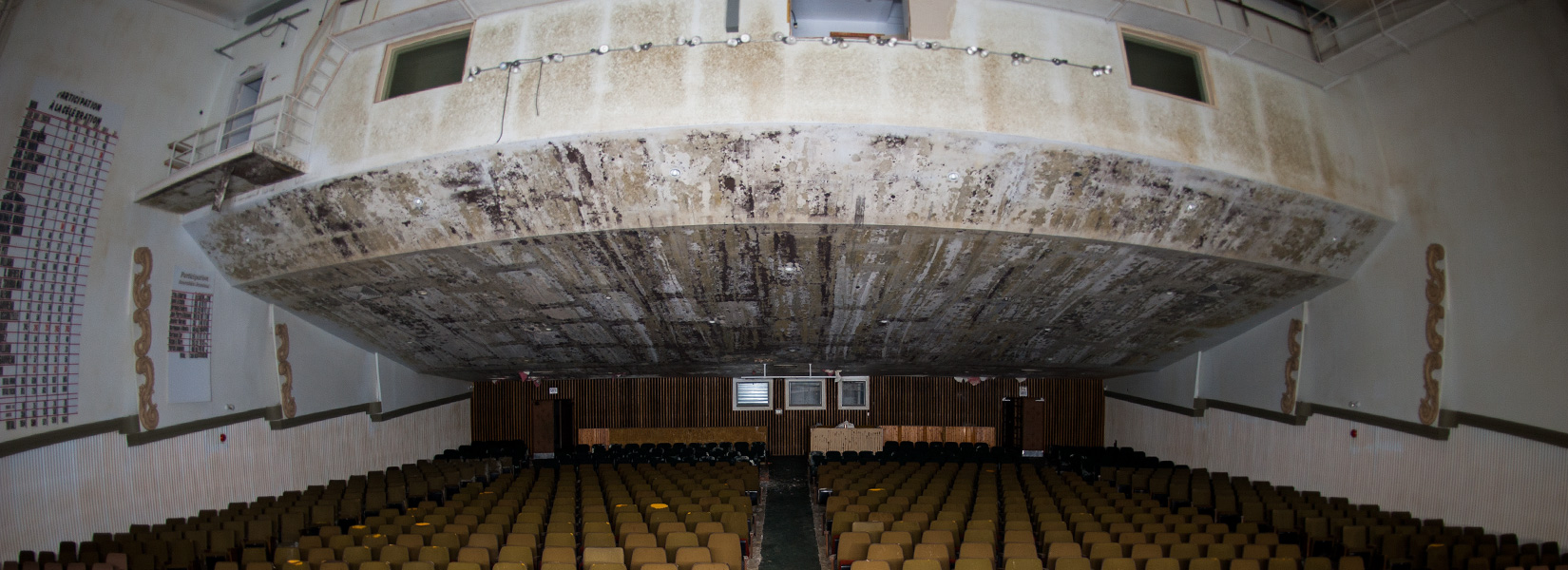The old abandoned cinema