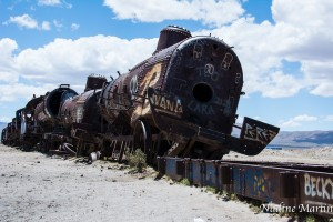 The train cemetery in Uyuni, Bolivia