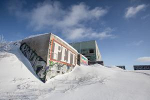 The abandoned Laurentian military base