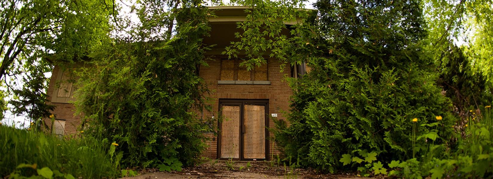 L'école Pagé, aujourd'hui abandonnée
