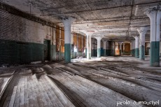 La vieille usine américaine abandonnée