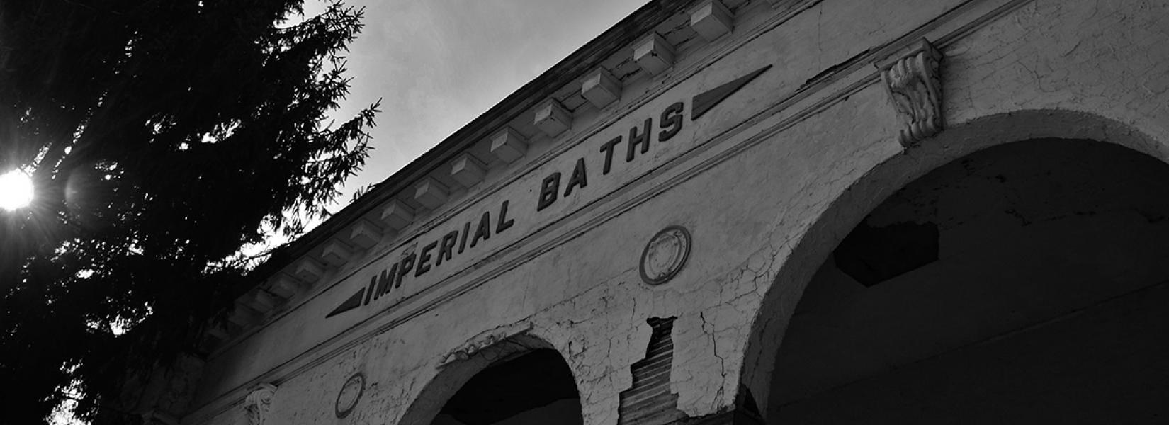 Hotel Adler, the abandoned bathhouse - Photo by Diane Landro