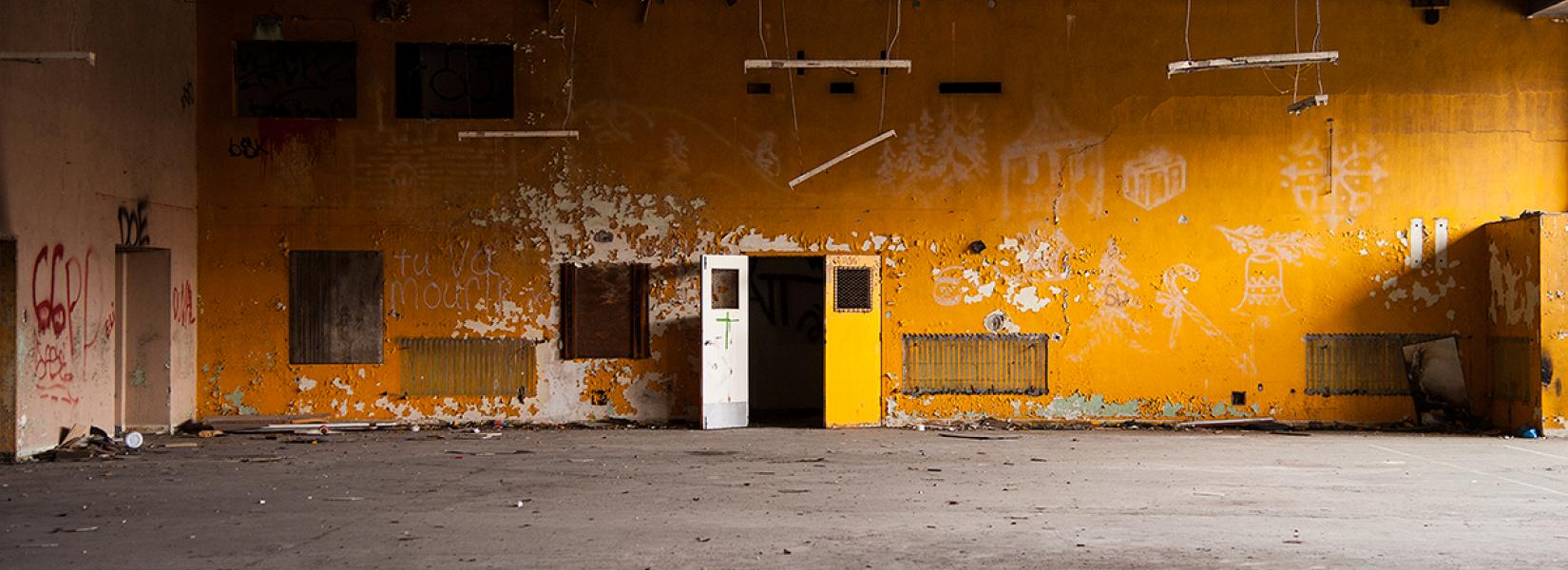 Old abandoned gym in the Dorea Institute