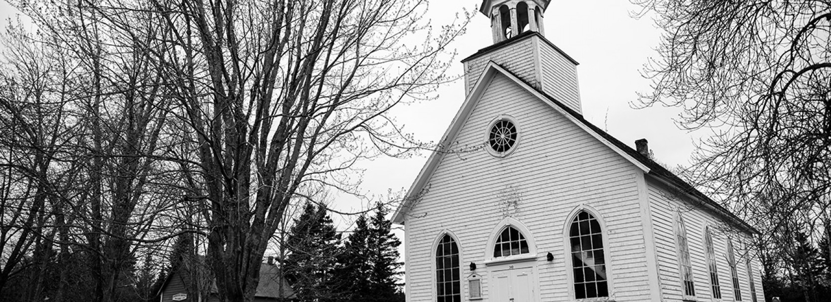 The old and abandoned Protestant church